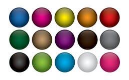 Κουμπιά Ιστού στοκ εικόνες