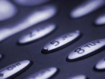 κουμπιά κινητά Στοκ φωτογραφία με δικαίωμα ελεύθερης χρήσης