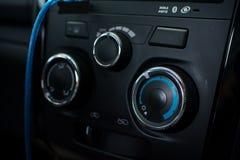 Κουμπιά κλιματιστικών μηχανημάτων αυτοκινήτων Στοκ Εικόνα