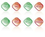 κουμπιά λαμπρά Στοκ εικόνες με δικαίωμα ελεύθερης χρήσης
