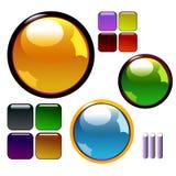 κουμπιά λαμπρά Διανυσματική απεικόνιση