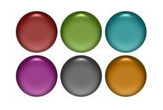 Κουμπιά μετάλλων διανυσματική απεικόνιση