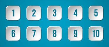 Κουμπιά με τους αριθμούς Στοκ Φωτογραφία