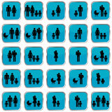 Κουμπιά οικογενειακών συμβόλων Στοκ εικόνες με δικαίωμα ελεύθερης χρήσης
