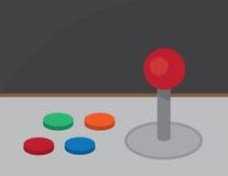 Κουμπιά πηδαλίων Arcade Στοκ φωτογραφία με δικαίωμα ελεύθερης χρήσης