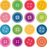 κουμπιά που ντύνουν το σύνολο έγχρωμης εικονογράφησης Στοκ Φωτογραφίες