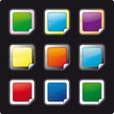 κουμπιά που πλαισιώνοντ&alph διανυσματική απεικόνιση