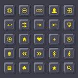κουμπιά που τίθενται Εικονίδια Διαδικτύου Διανυσματική απεικόνιση