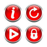 κουμπιά που τίθενται διάνυσμα Στοκ Εικόνες