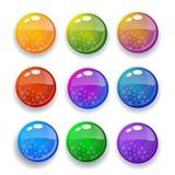 κουμπιά που τίθενται δια& Στοκ Φωτογραφίες