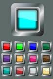 κουμπιά που τίθενται τετραγωνικά Στοκ εικόνες με δικαίωμα ελεύθερης χρήσης
