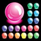 κουμπιά που τίθενται Στοκ Εικόνα