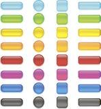 κουμπιά που τίθενται Στοκ φωτογραφίες με δικαίωμα ελεύθερης χρήσης