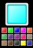 κουμπιά που τίθενται Στοκ Εικόνες