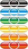 κουμπιά που χρωματίζοντα& Στοκ Φωτογραφία