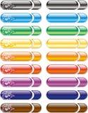 κουμπιά που χρωματίζοντα& Στοκ Εικόνες