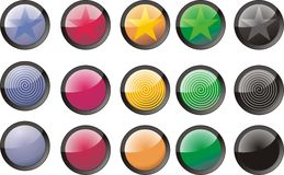 κουμπιά που χρωματίζοντα& Στοκ εικόνα με δικαίωμα ελεύθερης χρήσης