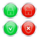 Κουμπιά προστασίας επίσης corel σύρετε το διάνυσμα απεικόνισης Στοκ εικόνα με δικαίωμα ελεύθερης χρήσης