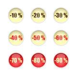 Κουμπιά πωλήσεων Στοκ φωτογραφίες με δικαίωμα ελεύθερης χρήσης
