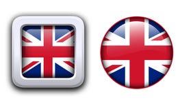 Κουμπιά σημαιών της Μεγάλης Βρετανίας απεικόνιση αποθεμάτων