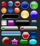 κουμπιά στιλπνά διανυσματική απεικόνιση