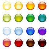 κουμπιά στιλπνά Απεικόνιση αποθεμάτων