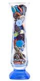 Κουμπιά στο βάζο γυαλιού Στοκ Εικόνα