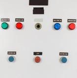 Κουμπιά στο πίνακα ελέγχου Στοκ εικόνα με δικαίωμα ελεύθερης χρήσης