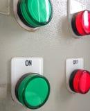 Κουμπιά στο πίνακα ελέγχου Στοκ εικόνες με δικαίωμα ελεύθερης χρήσης