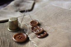 Κουμπιά στο σακάκι βελούδου Στοκ φωτογραφίες με δικαίωμα ελεύθερης χρήσης