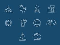 Κουμπιά ταξιδιού και μεταφορών που τίθενται διάνυσμα Στοκ φωτογραφίες με δικαίωμα ελεύθερης χρήσης