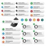 Κουμπιά υπηρεσιών επιχείρησης καθορισμένα Στοκ Φωτογραφίες