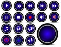 Κουμπιά φορέων Στοκ φωτογραφία με δικαίωμα ελεύθερης χρήσης