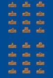 Κουμπιά χαλκού Στοκ Εικόνες