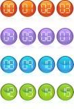κουμπιά ψηφιακά απεικόνιση αποθεμάτων