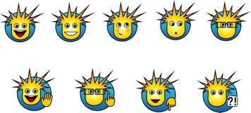 Κουμπιά Smilies Στοκ Εικόνες