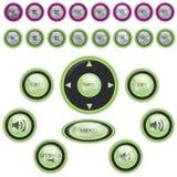 κουμπιών καθορισμένο διάν απεικόνιση αποθεμάτων