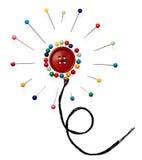 κουμπιών λουλούδι που &gam Στοκ Φωτογραφίες