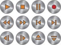κουμπιών πολυμέσα που τί&theta Στοκ Εικόνα