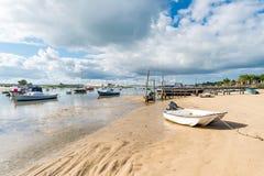 Κουνάβι ΚΑΠ, Γαλλία, άποψη πέρα από τον αμμόλοφο Pyla Στοκ Εικόνες