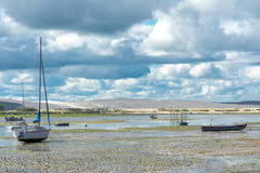 Κουνάβι ΚΑΠ, Γαλλία, άποψη πέρα από τον αμμόλοφο Pyla Στοκ εικόνα με δικαίωμα ελεύθερης χρήσης