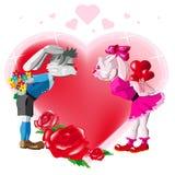 κουνέλια φιλήματος Στοκ φωτογραφίες με δικαίωμα ελεύθερης χρήσης