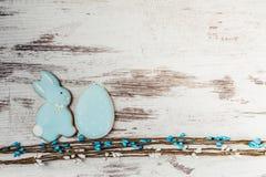 Κουνέλι και αυγό μπισκότων Πάσχας Στοκ εικόνα με δικαίωμα ελεύθερης χρήσης