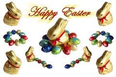 Κουνέλια και αυγά Πάσχας απεικόνιση αποθεμάτων