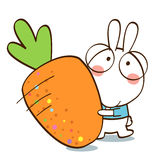 Κουνέλια όπως τα καρότα Στοκ Εικόνες