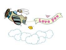 Κουνέλι & αεροπλάνο διανυσματική απεικόνιση