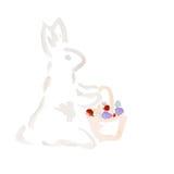 Κουνέλι Πάσχας Watercolor Στοκ Φωτογραφία