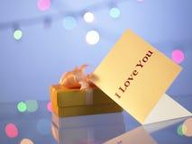 κουνέλι δώρων καρτών γενεθλίων Στοκ Φωτογραφίες