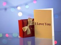 κουνέλι δώρων καρτών γενεθλίων Στοκ εικόνες με δικαίωμα ελεύθερης χρήσης