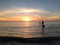 Κουπί ηλιοβασιλέματος Στοκ Φωτογραφίες